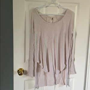 Free people sweater light pink